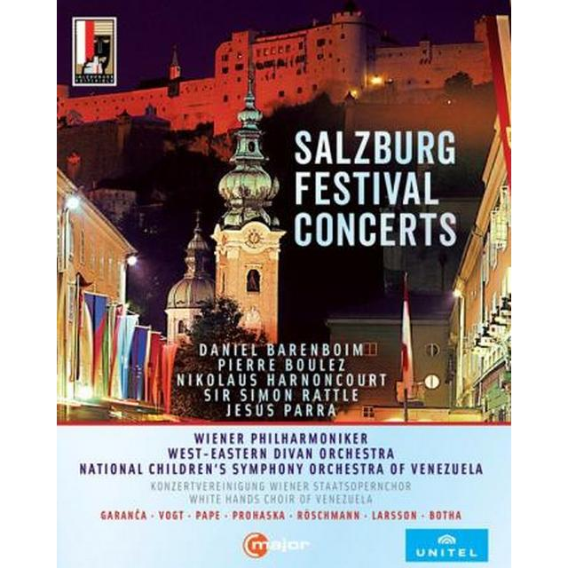 Salsburg Festival Concerts [Garanca; Vogt; Pape; Prohaska; Röschmann; Larsson; Botha; Wiener Philharmoniker; Sir Simon Rattle] [C Major Entertainment: 746104] [Blu-ray]